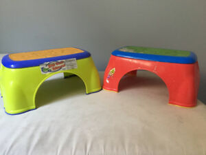 Nubby Toddler Step Stools (2)