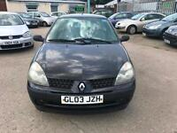 Renault Clio 1.2 Authentique ~ 2003 ~ JULY 18 MOT ~ BARGAIN ~