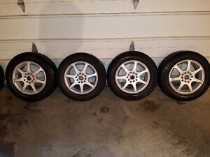 """Core Racing 14"""" x 6"""" rims 5/100-114 with Michelin tires"""