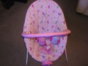 Pink baby bounce/vibrate/music chair