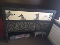Zebra wardrobe and chest of draws
