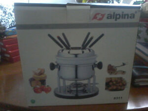 Complete Fondue Set by Alpina of Switzerland