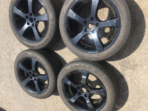 Bonneville 18x8 rims and 225/50-18 tires