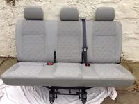 VW T5 Triple Bench Seat with fixings and Seat Belts