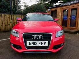 2012 AUDI A3 2.0TDI ( 170ps ) SPORTBACK TRONIC S LINE IN RED