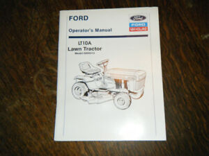 Ford LT 10A Lawn Tractor Operators Manual model 9809213