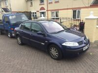 2004 RENAULT MEGANE 1.6 MOT TO NOVEMBER