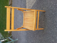 Chairs - 4 wooden folding chairs