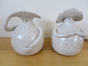 Hand made ceramic vases/candlestick holders