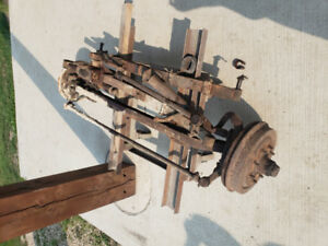 Straight axle front end