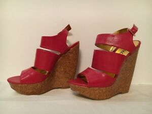 XOXO HOT Pink Size 6.5 Sandal Wedges for Sale!