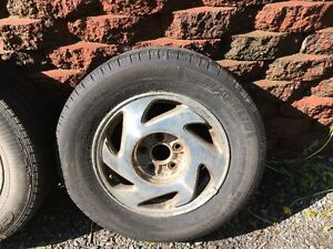 2002 Toyota Sienna Alloy Rims with tires