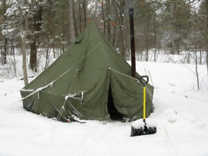 Wall tent, military style