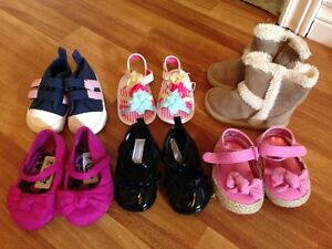 Assorted baby girl shoes size 3