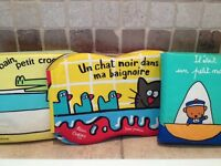 3 soft baby bath books/livres de bain