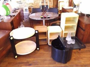 Vintage Kartell mid century bars on wheels
