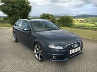 "2009 Audi A4 2.0 Tdi S Line Avant 143 Bhp 6 speed. Sat Nav, leather 20"" Alloys. Finance Available"