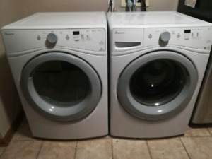 Amana Gas Washer and Dryer Front Loader set.