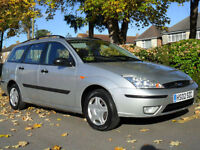 2002 LEFT HAND DRIVE LHD FORD FOCUS 1.6 ESTATE COMPLETE WITH M.O.T HPI CLEAR