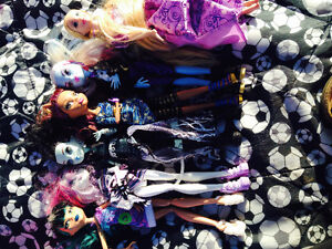 Barbie accessories and monster high barbie dolls