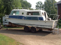 24ft Seacamper boat(houseboat), trailerable