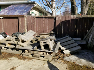 Free pallets and stumps