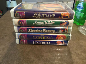 VHS  Masterpiece collection Disney movies