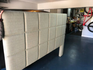 King Sized Upholstered Headboard & Boxspring