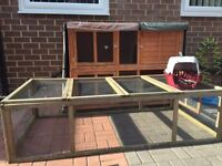 Rabbit hutch and run + extras