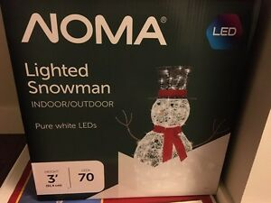 3' Noma lighted snowman Christmas decoration