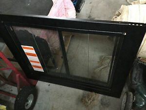 New Replacement  Wood Fireplace Glass Door and Frame Cover