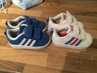 Adidas neo trainers boy size 5k 2pairs