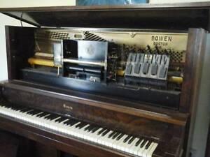 BEAUTIFULL BOWEN BOSTON PIANOLA PLAYER PIANO FULLY RESTORED 2013 Weranga Dalby Area Preview