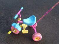 Kids Trike Bike - Fifi The Flower Tot trike with parent handle