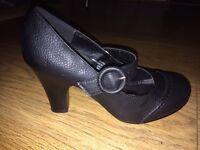 Women's black smart heels