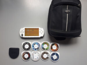 PSP 2000 with Games and Travel Bag
