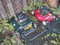 Two lawnmowers for parts or repair