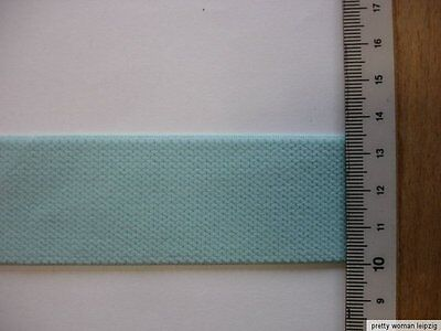 5m Gummiband 0,60€/m  Bündchengummi  3,5 cm breit  helles türkis MC34
