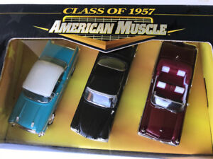 1:43  scale  American muscle 1957 three pack diecast vehicles