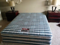 QUEEN SIZE BED, GOOD CONDITION  text. 647-524-1132