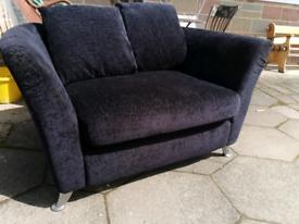 2 seater snuggle sofa, charcoal