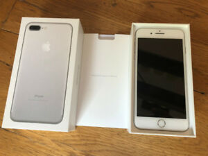 IPHONE 7 Plus 128GIG - Unlocked - MINT CONDITION WHITE/SILVER