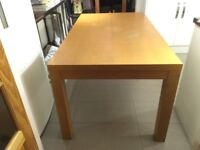 """Solid Wood Dining Table £25 for a quick sale 5""""3 x 3"""" (160 x 90 cm)"""