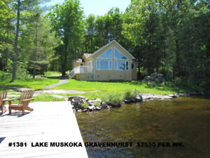 Lakefront cottage rentals in Muskoka from $1200-$5000 per wk
