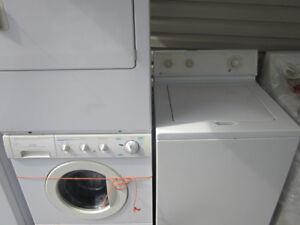 ménager laveuse frontal et sécheuse et laveuse seul congelateur