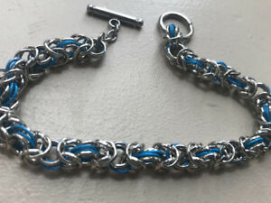 2 hand made chainmaille bracelets