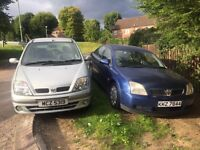 VECTRA & SCENIC £125 EACH OR 2 FOR £200