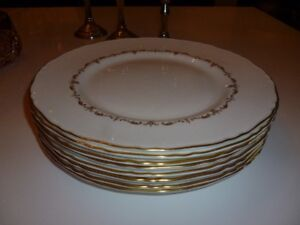 Lot de 8 assiettes Royal Worcester Gold Chantilly England (100)
