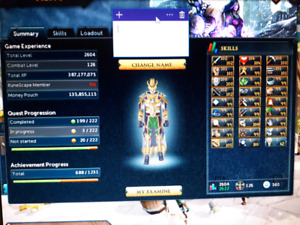 runescape 3 maxed account all 99 and more