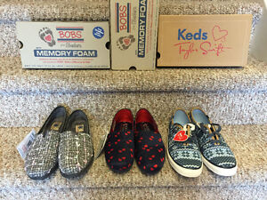 New! Bobs sketchers and Taylor swift Keds size 7.5 and 8